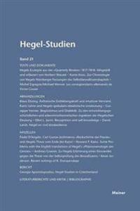 Hegel-Studien Band 21 (1986)