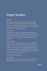 Hegel-Studien Band 25 (1990)