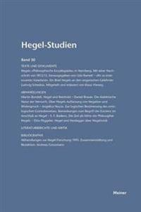 Hegel-Studien Band 30 (1995)