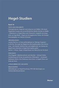 Hegel-Studien Band 16 (1981)
