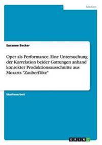 """Oper ALS Performance. Eine Untersuchung Der Korrelation Beider Gattungen Anhand Konrekter Produktionsausschnitte Aus Mozarts """"Zauberflote"""""""