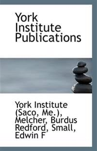 York Institute Publications