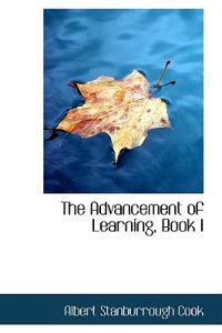 The Advancement of Learning, Book I