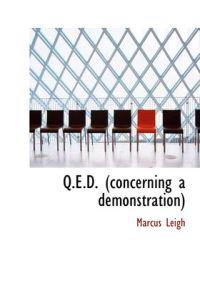 Q.E.D. (Concerning a Demonstration)
