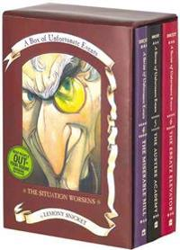 Box of Unfortunate Events  The Situation Worsens  Books 4-6 - Lemony Snicket  Brett Helquist - böcker (9780060095567)     Bokhandel
