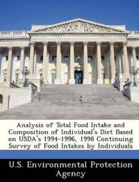 Analysis of Total Food Intake and Composition of Individual's Diet Based on USDA's 1994-1996, 1998 Continuing Survey of Food Intakes by Individuals