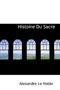 Histoire Du Sacre