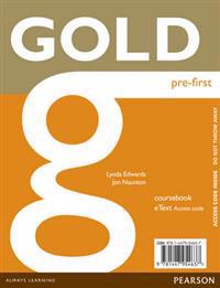 Gold Pre-First eText Coursebook Access Card