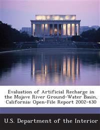 Evaluation of Artificial Recharge in the Mojave River Ground-Water Basin, California