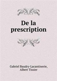 de La Prescription