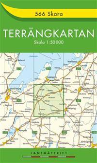 566 Skara Terrängkartan : 1:50000