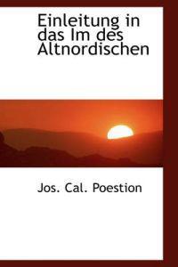 Einleitung in Das Im Des Altnordischen
