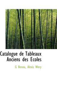 Catalogue de Tableaux Anciens Des Coles