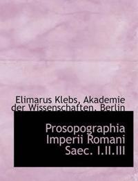 Prosopographia Imperii Romani Saec. I.II.III
