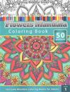 Coloring Books for Grown-Ups: Flowers Mandala Coloring Book (Intricate Mandala Coloring Books for Adults), Volume 1