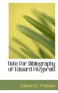 Note for Bibliography of Edward Fitzgerald