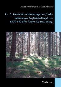 Carl Axel Gottlunds nedteckningar av finska släktnamn i husförhörslängderna
