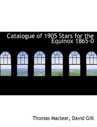 Catalogue of 1905 Stars for the Equinox 1865 0