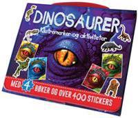 Dinosaurer. Klistremerker og aktiviteter. Veske med 4 hefter og over 400 klistremerker
