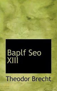 Baplf Seo XIII