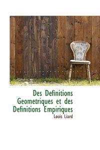 Des D Finitions G Om Triques Et Des D Finitions Empiriques