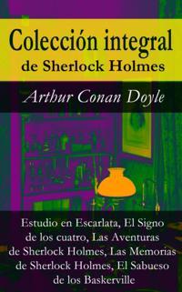 Coleccion integral de Sherlock Holmes (Estudio en Escarlata, El Signo de los cuatro, Las Aventuras de Sherlock Holmes, Las Memorias de Sherlock Holmes, El Sabueso de los Baskerville)