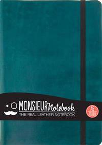 Monsieur Notebook - Real Leather A5 Turquoise Ruled
