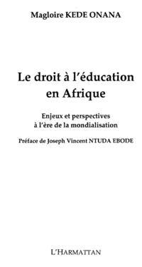 Droit a l'education en afriqueLe