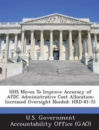 HHS Moves to Improve Accuracy of Afdc Administrative Cost Allocation