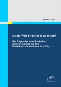 Ist die Wall Street noch zu retten? Die Folgen der amerikanischen Immobilienkrise fur den Wirtschaftsstandort New York City