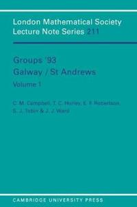 Groups '93 Galway/St Andrews: Volume 1