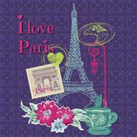 Paris: Travel Scrapbook and Memory Journal with Photo Pages-Full Color