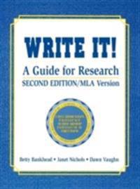 Write It! A Guide for Research
