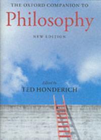 Oxford Companion to Philosophy 2/e