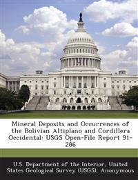 Mineral Deposits and Occurrences of the Bolivian Altiplano and Cordillera Occidental