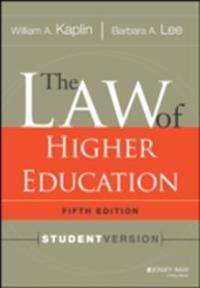 Law of Higher Education, 5th Edition