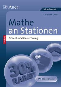 Mathe an Stationen Prozent- und Zinsrechnung