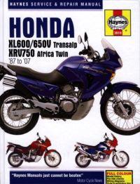 Haynes Honda XL600/650V Transalp 1987 to 1999. 2000 to 2007 & XRV750 Africa Twin 1990 to 2003
