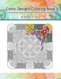 Celtic Designs Coloring Book: 20 Original, Hand-Drawn Knotwork & Spiral Designs