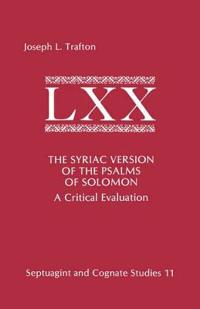 Syriac Version of the Psalms of Solomon