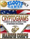 Klooto Games Cryptograms Vol. V: Marine Corps Edition