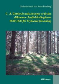 C. A. Gottlunds nedteckningar av finska släktnamn i husförhörslängderna 182