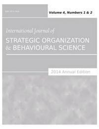 International Journal of Strategic Organization and Behavioural Science 2014