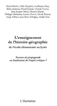 L'enseignement de l'histoire-geographie de l'ecole elementai
