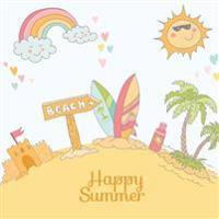 Happy Summer: Summer Break Journal & Scrapbook for Kids