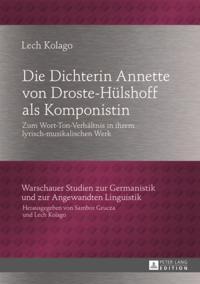 Die Dichterin Annette von Droste-Huelshoff als Komponistin