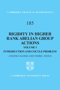 Rigidity in Higher Rank Abelian Group Actions: Volume 1, Introduction and Cocycle Problem