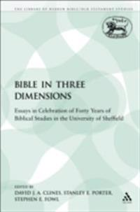 Bible in Three Dimensions: Essays in Celebration of Forty Years of Biblical Studies in the University of Sheffield