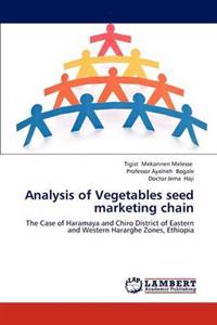 Analysis of Vegetables Seed Marketing Chain