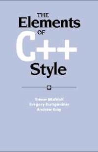 Elements of C++ Style
